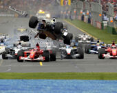 Crash 2002 F1 GP Australia