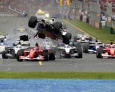 Crash 2002 F1 GP Australia