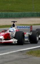 Mika Salo driving the Toytoa TF102
