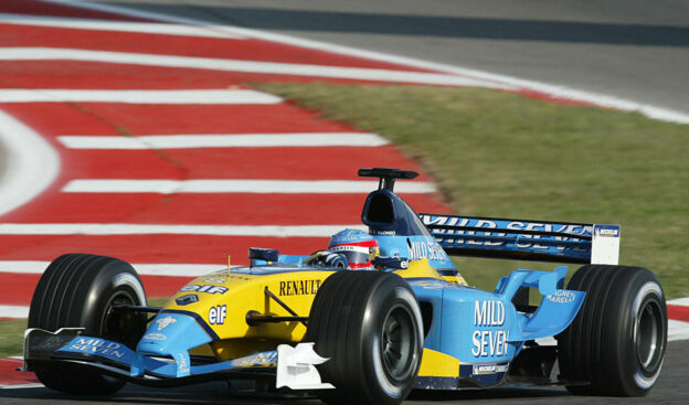 2003 Renault RS23 driven by Fernando Alonso in Barcelona