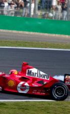 Michael Schumacher spins at 2004 Chinese F1 GP