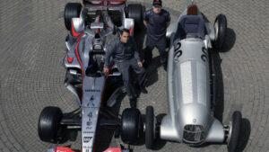 Juan Pablo Montoya & Kimi Raikonnen McLaren Mercedes F1
