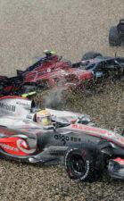 Crashed F1 cars everywhere 2007 F1 GP of Europe