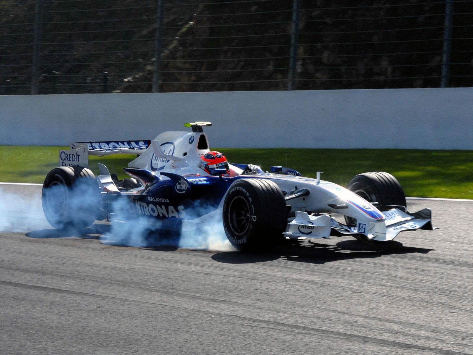 Robert Kubica driving the BMW Sauber F1.07 in Belgium (2012)
