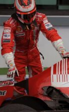 Kimi broken exhaust 2008 F1 GP France