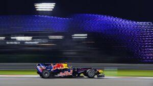 Sebastian Vettel driving the Red Bull RB7 at Abu Dhabi (2011)