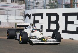 Mika Hakkinen driving his first race at the 1991 US GP in Phoenix in the Lotus 102B