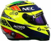 2017 Sergio Perez helmet|