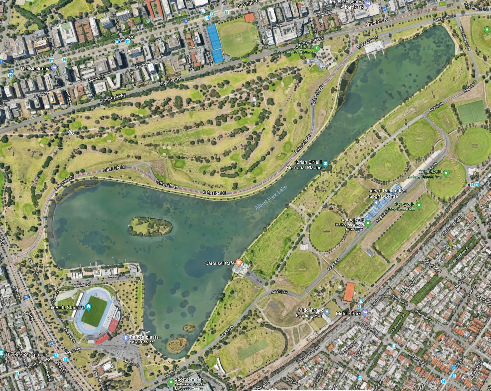 Australian F1 grand prix circuit