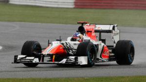 Daniel Ricciardo's first race at 2011 British F1 GP driving the HRT F111