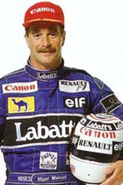 Nigel Mansell: See his Wiki info, F1 Stats, Poles, Wins & Titles