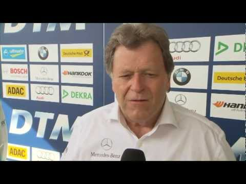 Nico Rosberg at DTM opener 2012: To drive Fangios 1955 silver arrow