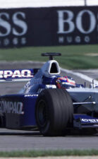Juan Pablo Montoya racing the FW23 on Indianapolis F1 circuit (2001)