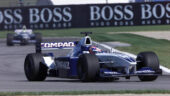 Juan Pablo Montoya racing the FW23 on Indianapolis F1 circuit (2001)