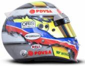 Pastor Maldonado helmet 2013