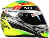 2015 Sergio Perez helmet