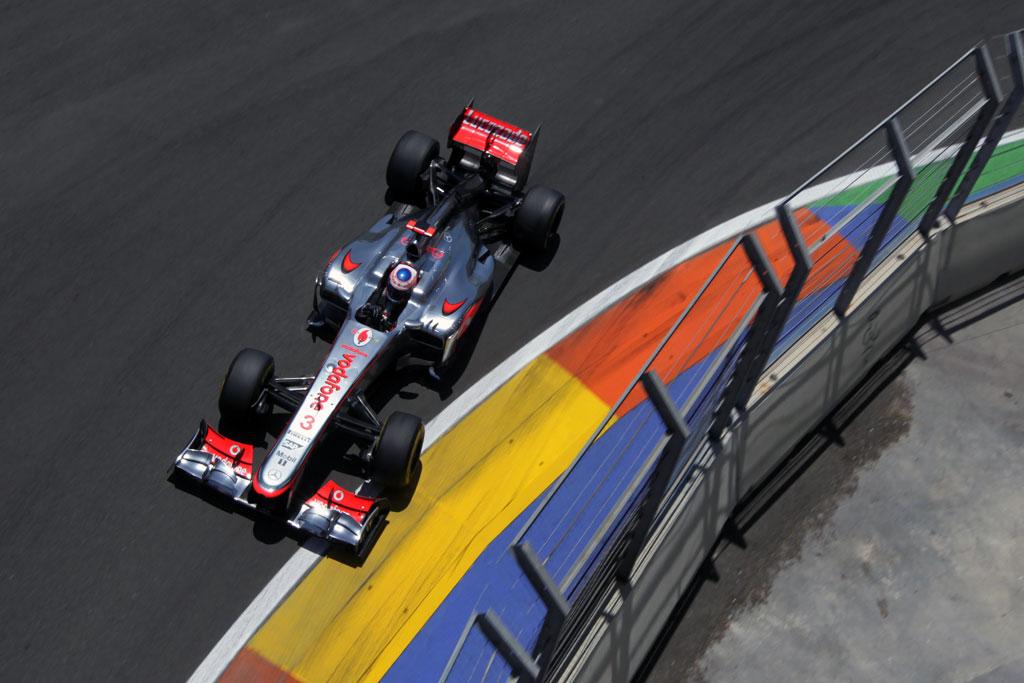 Jenson Button driving his McLaren MP4-27 Mercedes (2012)