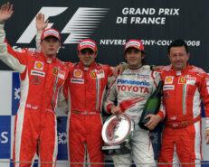 2008 formula 1 Grand Prix of France Podium