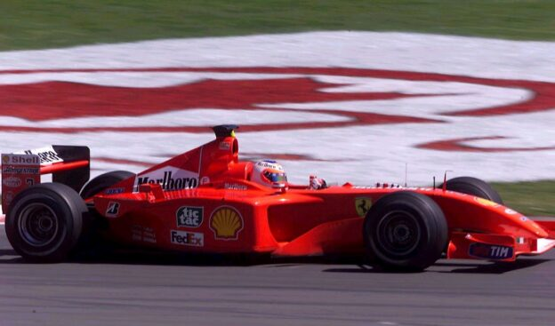 Rubens Barrichello driving Ferrari F2001