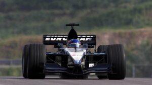 Fernando Alonso driving the Minardi PS01 in 2001