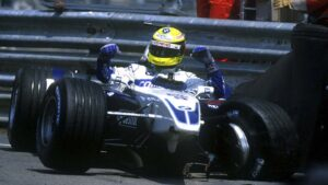 Ralf Schumacher BMW Williams crashed