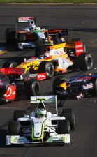 First corner incedent 2009 Australia F1 GP