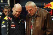 Technical officer Adrian Newey and Red Bull Racing team owner Dietrich Mateschitz