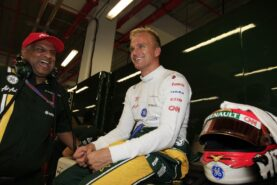 Heikki Kovalainen and Tony Fernandez
