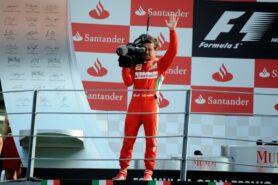 Fernando Alonso with Camera Italy 2012