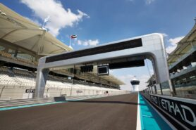 Abu Dhabi start finish line