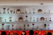 Trophies at Ferrari Museum Maranello