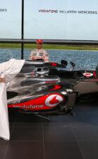 McLaren MP4-28 reveal by Button & Perez