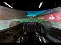 Mercedes F1 Simulator Behind-the-Scenes footage