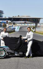 Unveiling Mercedes W04 Hamilton & Rosberg