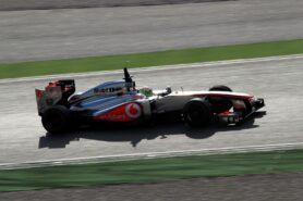 Sergio Perez McLaren MP4-28 Barcelona test