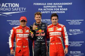 Top 3 qualifiers Malaysia: 1. Vettel, 2. Massa 3. Alonso