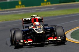 Romain Grosjean Lotus E21, 2013 Australian Grand Prix - Practice