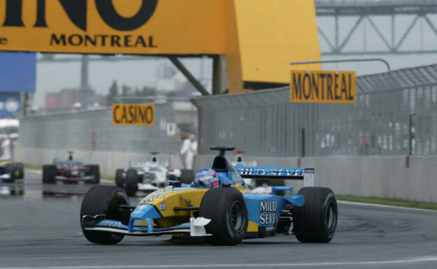 Renault R202 driven by Jenson Button in Canada (2002)