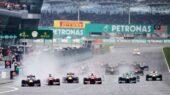 Start of 2013 Malaysian F1 GP