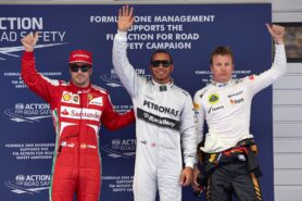 Top 3 qualifiers 2013 Chinese F1 GP