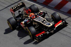 Romain Grosjean driving the Lotus E21 at Monaco (2013)