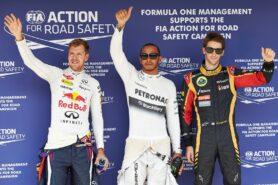 Top 3 qualifiers: 1. Hamilton 2. Vettel 3. Grosjean