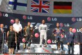 2013 Hungarian podium: 1. Hamilton 2. Raikkonen 3. Vettel