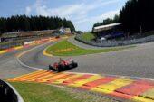 Lap times 1st practice 2014 Belgian F1 Grand Prix