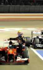 Alonso taxi with Webber
