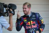 """Sebastian Vettel with """"The Finger"""""""