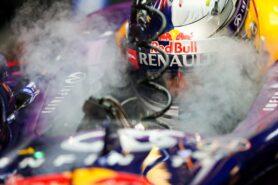 Sebastian Vettel smoking