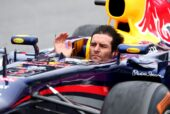 Mark Webber without helmet