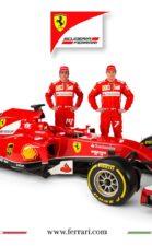 Ferrari-F14 T with Fernando Alonso & Kimi Raikkonen