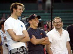 Alexander Wurz, Christian Klien and Jacques Villeneuve